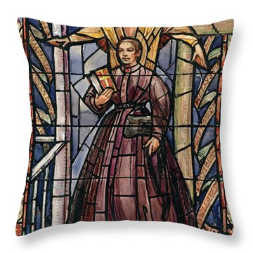 Sally Tompkins (1833-1916) Throw Pillow by Granger