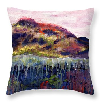 01252 Big Island Throw Pillow by AnneKarin Glass