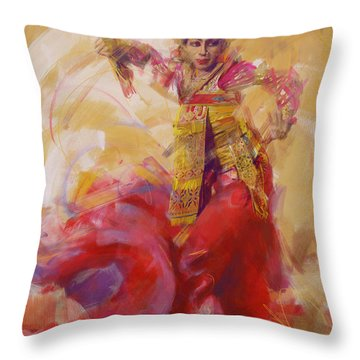 013 Kazakhstan Culture Throw Pillow