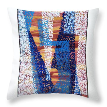 01325 Blue Too Throw Pillow by AnneKarin Glass