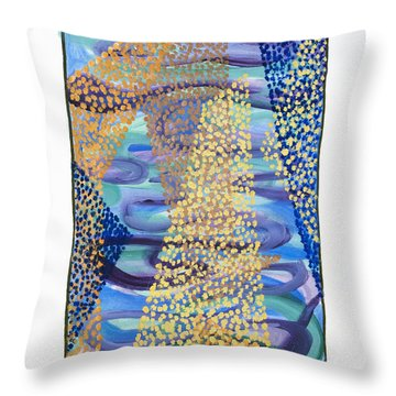 01331 Rise Throw Pillow by AnneKarin Glass
