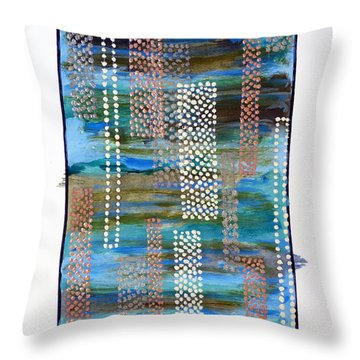 01332 Straight Throw Pillow by AnneKarin Glass
