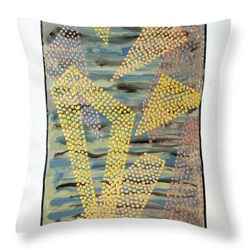 01333 Left Throw Pillow by AnneKarin Glass