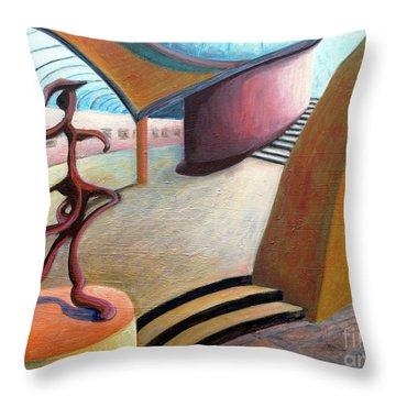 01343 Museum Throw Pillow by AnneKarin Glass