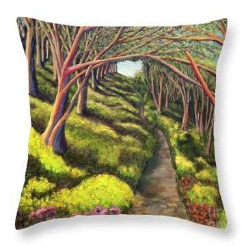 01350  Spring  Throw Pillow by AnneKarin Glass