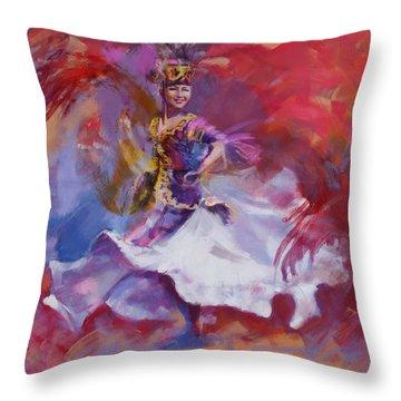 014 Kazakhstan Culture Throw Pillow
