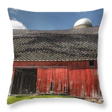 0181 Hollenbeck Road Red II Throw Pillow