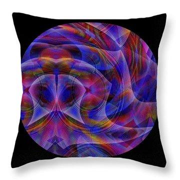 Throw Pillow featuring the digital art #021120163 by Visual Artist Frank Bonilla