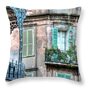 0254 French Quarter 10 - New Orleans Throw Pillow