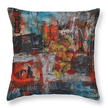 027 Abstract Thought Throw Pillow
