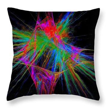 Throw Pillow featuring the digital art #030920163 by Visual Artist Frank Bonilla