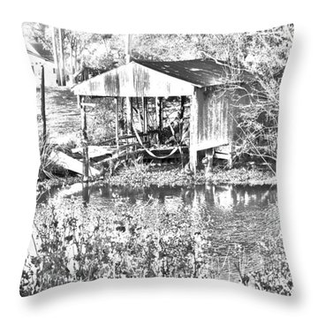 03192015 Boat Shed Lafourch Parish Throw Pillow
