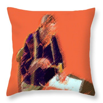 03232015 Digital Craftsman Throw Pillow