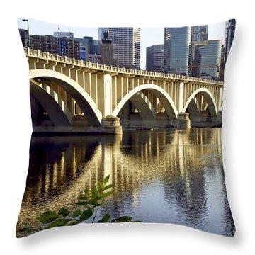 0333 3rd Avenue Bridge Minneapolis Throw Pillow by Steve Sturgill