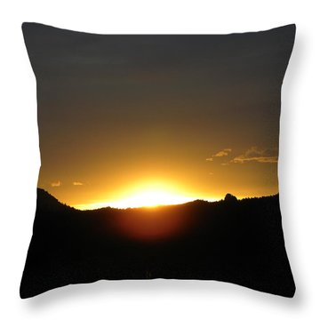 Sunrise West Side Of Rmnp Co Throw Pillow