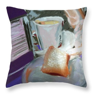040517 Beni Gets And Coffee Throw Pillow