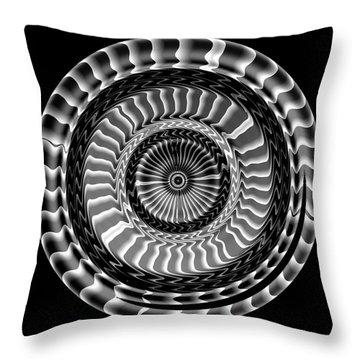 Throw Pillow featuring the digital art #041120156 by Visual Artist Frank Bonilla