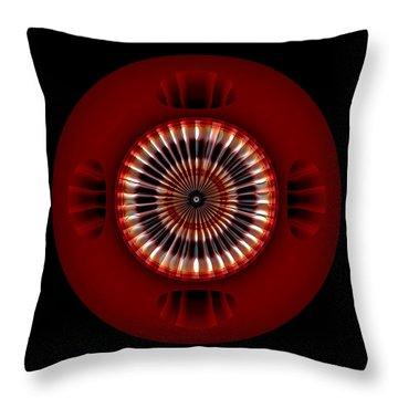 Throw Pillow featuring the digital art #042520153 by Visual Artist Frank Bonilla