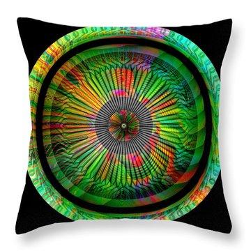 Throw Pillow featuring the digital art #042920159 by Visual Artist Frank Bonilla