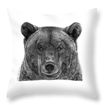 045 Papa Bear Throw Pillow by Abbey Noelle