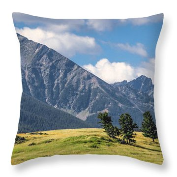 #0491 - Spanish Peaks, Southwest Montana Throw Pillow