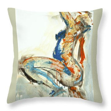 04958 Suddenly Throw Pillow by AnneKarin Glass