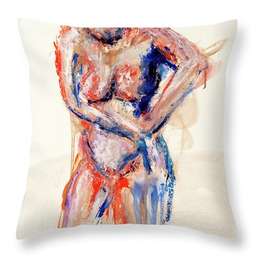 04991 What Next Throw Pillow by AnneKarin Glass