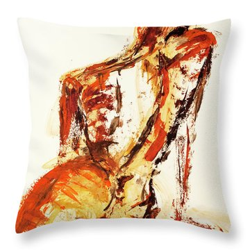 04992 Fine Throw Pillow by AnneKarin Glass