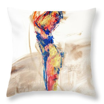 04997 Bird Call Throw Pillow by AnneKarin Glass