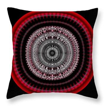 Throw Pillow featuring the digital art #050820155 by Visual Artist Frank Bonilla