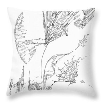 Unravelled       0511-18 Throw Pillow by Charles Cater