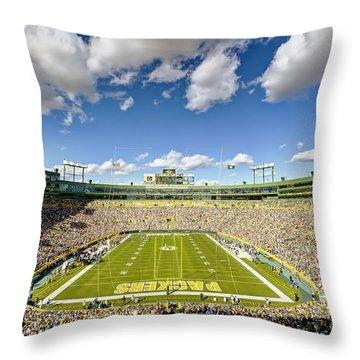 0538 Lambeau Field Throw Pillow by Steve Sturgill