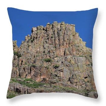 Mountain Scenery Hwy 14 Co Throw Pillow