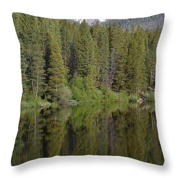 Chambers Lake Hwy 14 Co Throw Pillow
