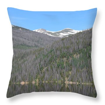 Chambers Lake Reflection Hwy 14 Co Throw Pillow