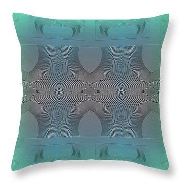 Throw Pillow featuring the digital art #061220171 by Visual Artist Frank Bonilla