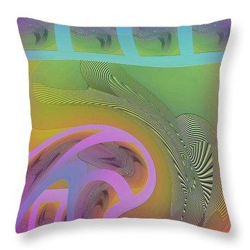 Throw Pillow featuring the digital art #061220173 by Visual Artist Frank Bonilla