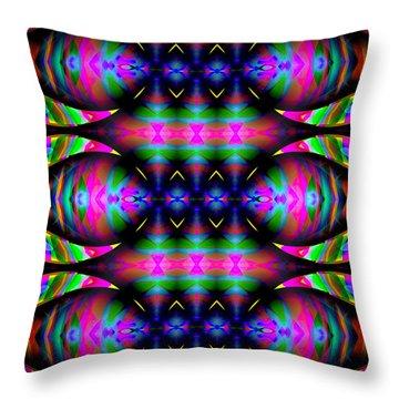 Throw Pillow featuring the digital art #0627201523 by Visual Artist Frank Bonilla