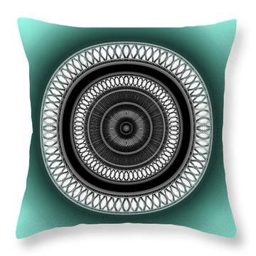 Throw Pillow featuring the digital art #062720153 by Visual Artist Frank Bonilla