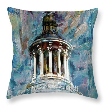 063 United States Capitol Dome Throw Pillow