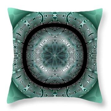 Throw Pillow featuring the digital art #070420152 by Visual Artist Frank Bonilla