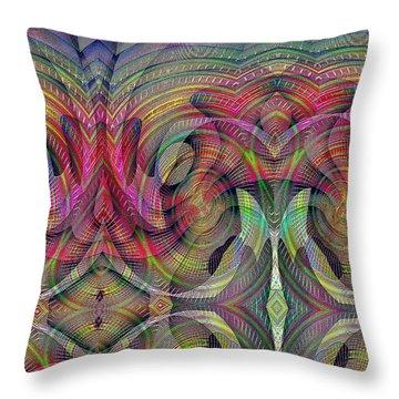 Throw Pillow featuring the digital art #0705201510 by Visual Artist Frank Bonilla