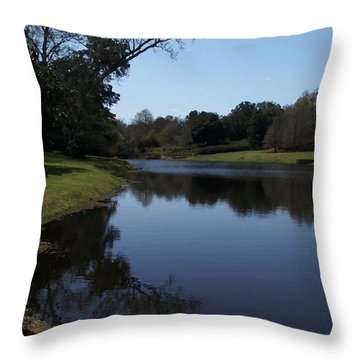 071115 Louisiana Bayou Throw Pillow by Garland Oldham