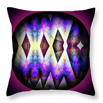 Throw Pillow featuring the digital art 080620172 by Visual Artist Frank Bonilla