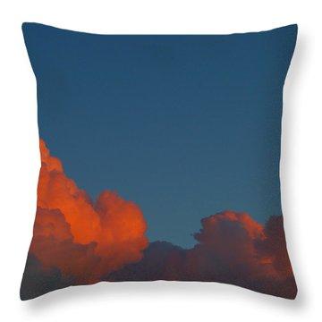 Fireclouds Throw Pillow