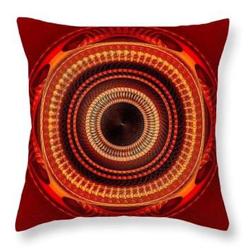 Throw Pillow featuring the digital art #091520152 Orange Version by Visual Artist Frank Bonilla