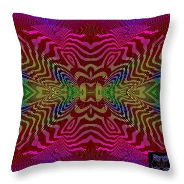 Throw Pillow featuring the digital art #092120153 by Visual Artist Frank Bonilla