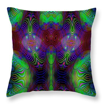 Throw Pillow featuring the digital art #092820151 by Visual Artist Frank Bonilla