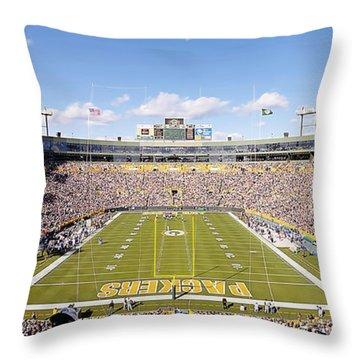 0991 Lambeau Field Throw Pillow