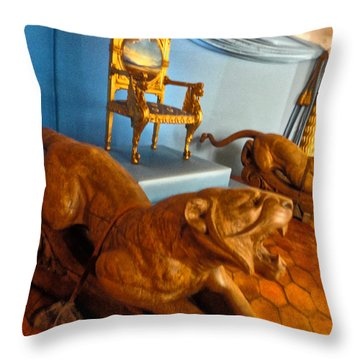 Throw Pillow featuring the photograph  Pubol Spain Gala Castle by Gregory Dyer